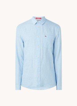 Tommy Hilfiger Tommy Hilfiger Regular fit overhemd in linnenblend met logo