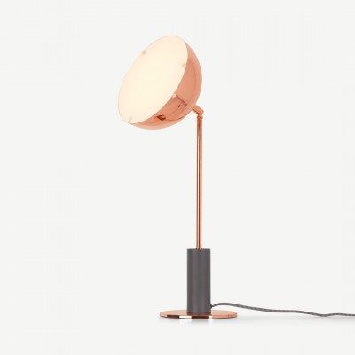MADE.COM Lumo tafellamp, koper en houtskoolgrijs