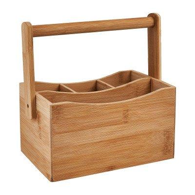 Keuken caddy - bamboe - 23x14x23.5 cm