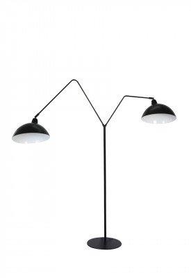 vtwonen vtwonen Vloerlamp 'Orion' 2-Lamps, mat zwart