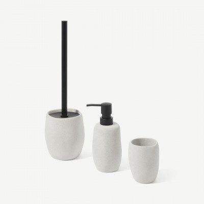 MADE.COM Ewan 3-delige badkamer set met organische vormen, grijs