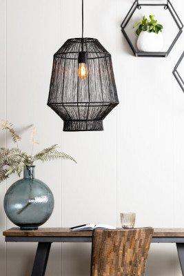 Light en Living Light & Living Hanglamp 'Vitora' 37cm, mat zwart
