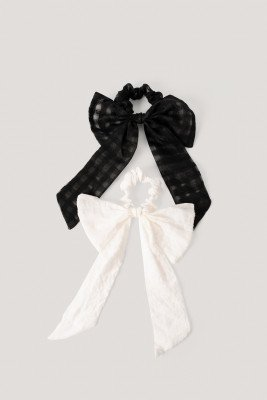 MANGO Scrunchies - Black,White