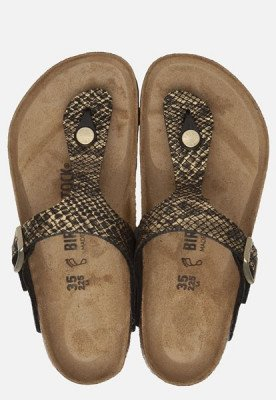 Birkenstock Birkenstock Gizeh Python slippers zwart
