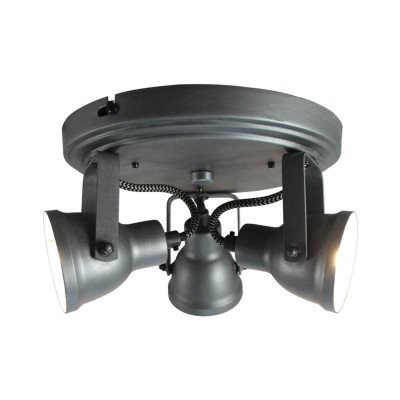 LABEL51 LABEL51 LED Spot 'Max' 3-lichts, kleur Burned Steel