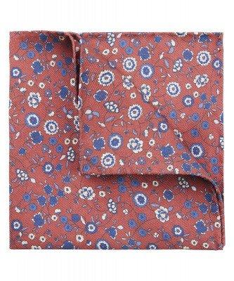 Profuomo Profuomo heren rood bloemenprint pochet