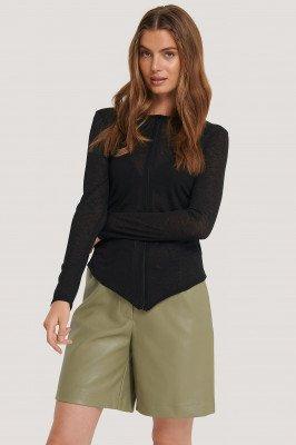 NA-KD NA-KD Vest Met Lange Mouwen - Black