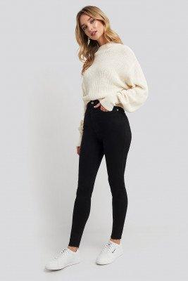 NA-KD NA-KD Super High Waist Skinny Jeans - Black