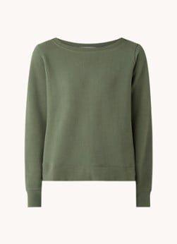Marc O'Polo Marc O'Polo Sweater met boothals en backprint