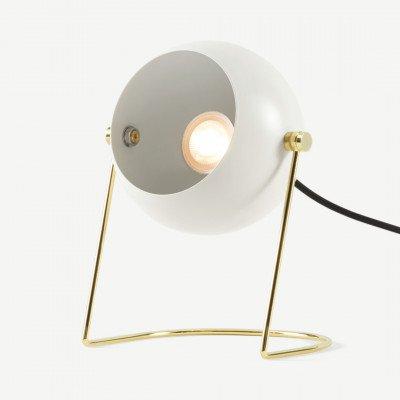 MADE.COM Brunswick metalen nachtlamp, warm grijs en messing