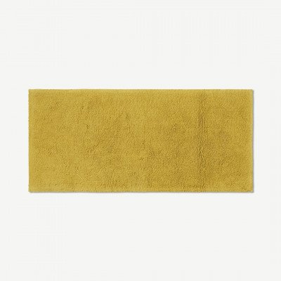 MADE.COM Aire badmat van 100% katoen, extra lang, 50 x 110 cm, okergeel
