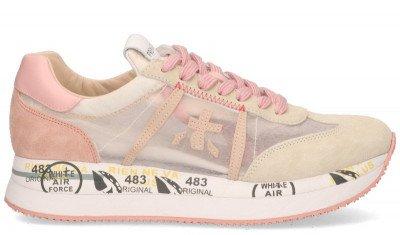 Premiata Premiata Conny 5208 Roze/Beige Damessneakers