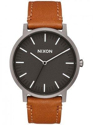 Nixon The Porter Leather grijs