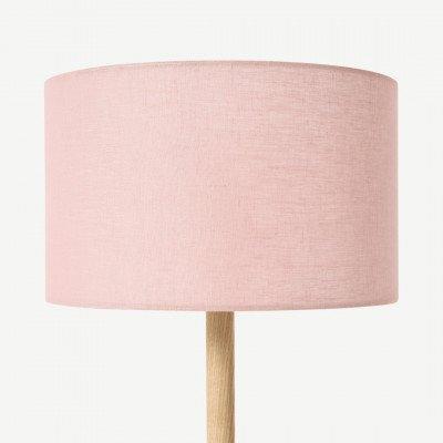 MADE.COM Brisa lampenkap van 100% linnen, 30 cm, stofroze