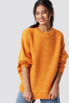 Trendyol Trendyol Bat Sleeve Knitted Sweater - Orange