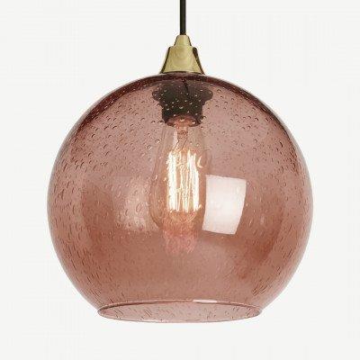 MADE.COM Edna glazen lampenkap, lichtroze