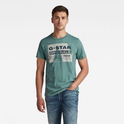 G-Star RAW Layer Originals Logo GR T-Shirt - Grijs - Heren