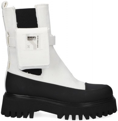 Bronx Witte Bronx Chelsea Boots Groov-y 47348