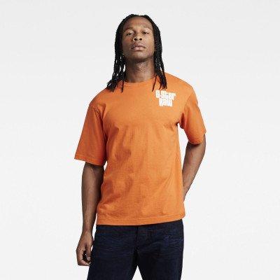 G-Star RAW Unisex Radio Chest Boxy T-Shirt - Oranje - Heren