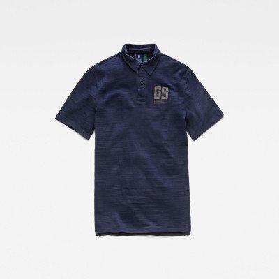G-Star RAW Stitch & Graphic Polo - Donkerblauw - Heren