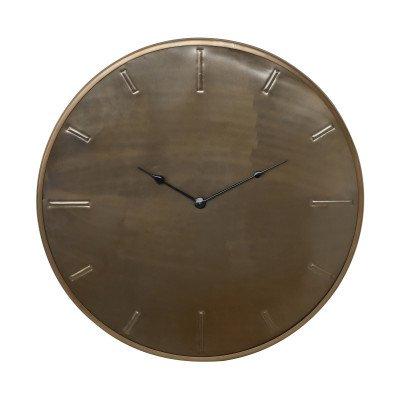 Firawonen.nl Milou brass stainless steel wall clock round m