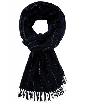Profuomo Profuomo heren navy gestreepte sjaal