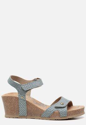 Panama Jack Panama Jack Julia Snake B800 sandalen met sleehak blauw
