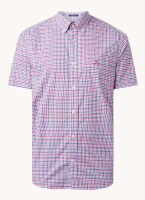Gant Gant Gingham regular fit overhemd met ruitdessin