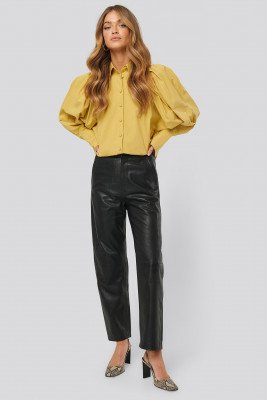 NA-KD Trend NA-KD Trend Leather Pants - Black