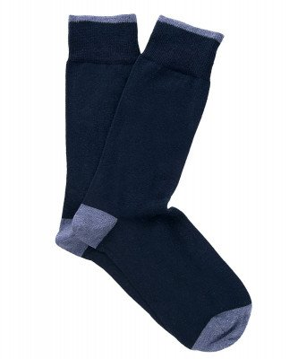 Profuomo Profuomo heren two-pack navy katoenen sokken