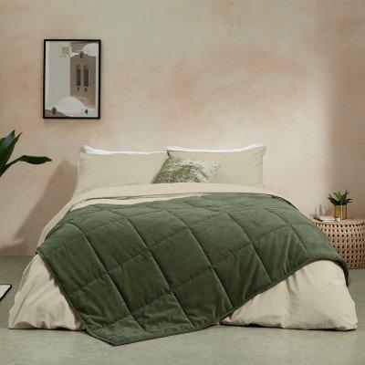 MADE.COM Selky bedsprei, 125 x 225 cm, saliegroen
