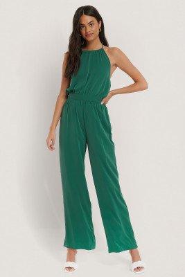 NA-KD Jumpsuit Met Halternek - Turquoise