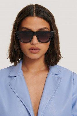 NA-KD Accessories NA-KD Accessories Sharp Square Cateye Sunglasses - Black