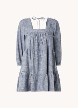 Whistles Whistles Tilly gelaagde mini jurk van chambray