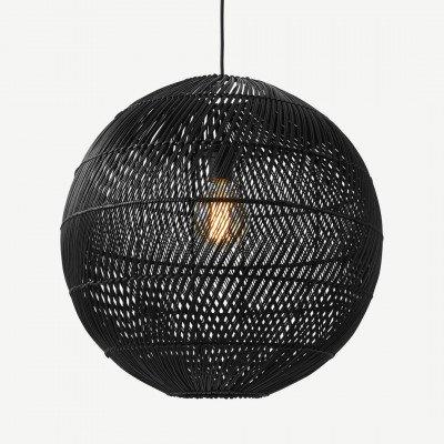 Java ronde lampenkap, zwart