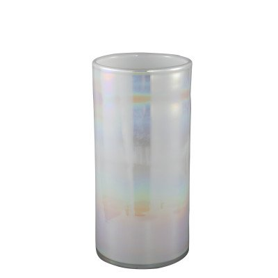 Ptmd dyana wit oil glas vaas rond hoog l