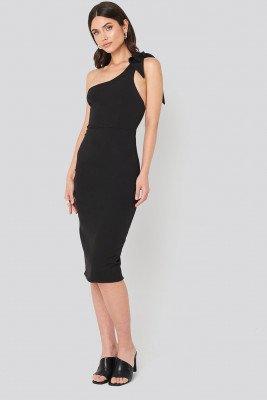Trendyol Trendyol Bow Back Detailed Midi dress - Black