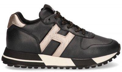 Hogan Hogan H383 Zwart/Goud Damessneakers
