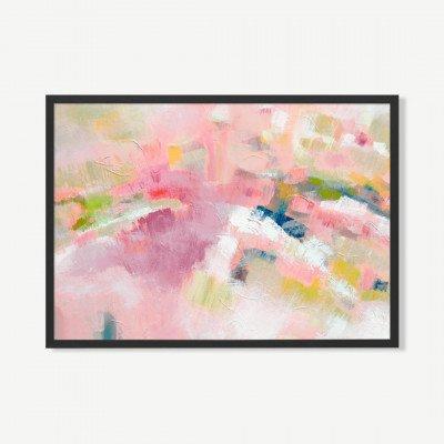 MADE.COM Pink Heather, ingelijste print van Kimberly Godfrey, 70 x 100 cm