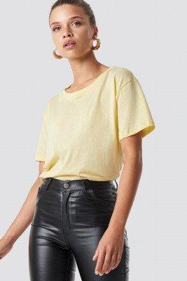 NA-KD Basic Basic Oversized T-Shirt - Yellow