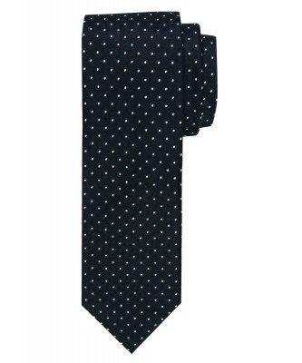 Profuomo Profuomo heren zwarte dot zijden stropdas