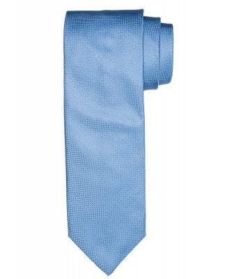 Profuomo Profuomo heren blauw oxford zijden stropdas
