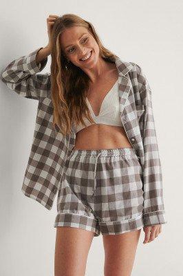 NA-KD Lingerie NA-KD Lingerie Flannel Pyjamas Shorts - Grey