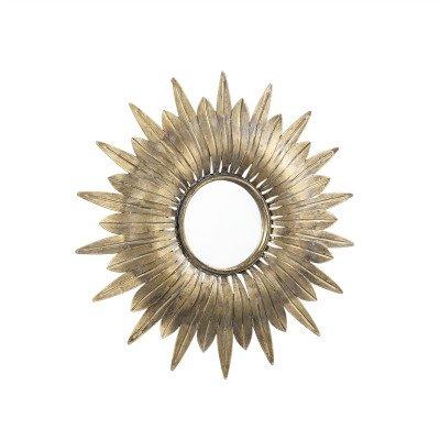 Firawonen.nl PTMD Finna Gold ijzeren spiegel zon vorm rond S