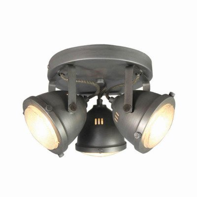 LABEL51 LABEL51 LED Spot 'Moto' 3-lichts, kleur Burned Steel