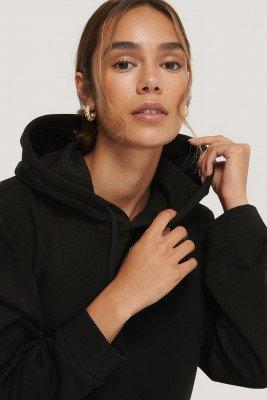 NA-KD Basic NA-KD Basic Organisch Basic Cropped Hoodie - Black