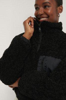 NA-KD Trend NA-KD Trend Omkeerbaar Teddyjack - Black