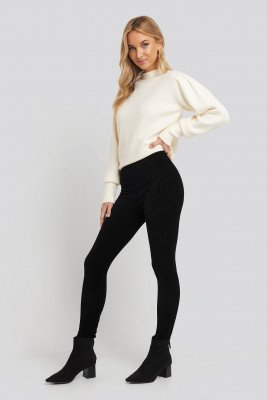 Trendyol Trendyol Corduroy Knitted Tights - Black