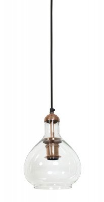 Light en Living Light & Living Hanglamp 'Dela' Ø19x28 cm, glas koper