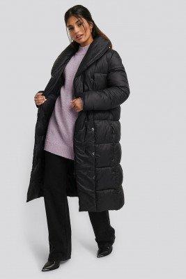 NA-KD NA-KD Padded Long Jacket - Black